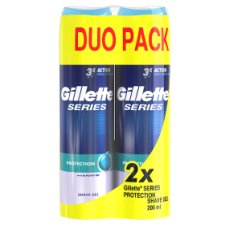 Gillette Series Protection Men's Shaving Gel 2x200ml