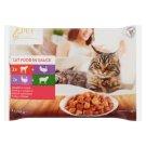 Tesco Pet Specialist teljes értékű állateledel felnőtt macskák számára kétféle ízesítésben 4 x 100 g
