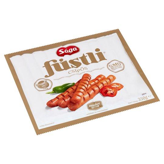 Sága Eredeti Füstli Hot, Smoke Flavoured Turkey Frankfurters with Jalapeno 350 g