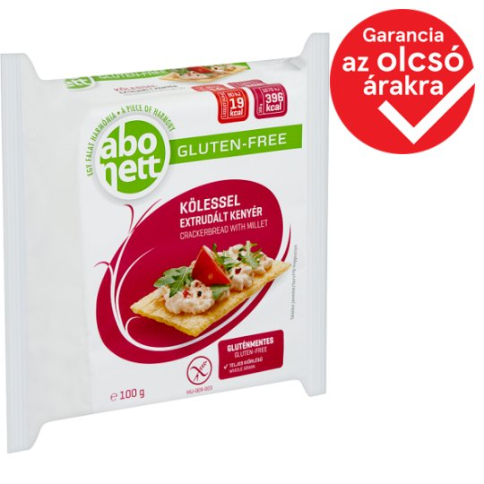 Abonett Gluten-Free Crackerbread with Millet 100 g
