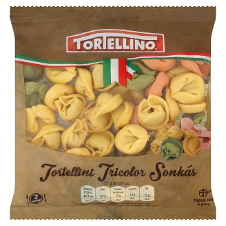 Tortellino Tortellini Tricolor Fresh Pasta with Ham Filling 250 g