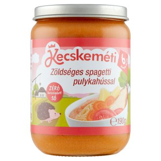 Kecskeméti Dairy-Free Spaghetti with Vegetables and Turkey Baby Food 6+ Months 190 g