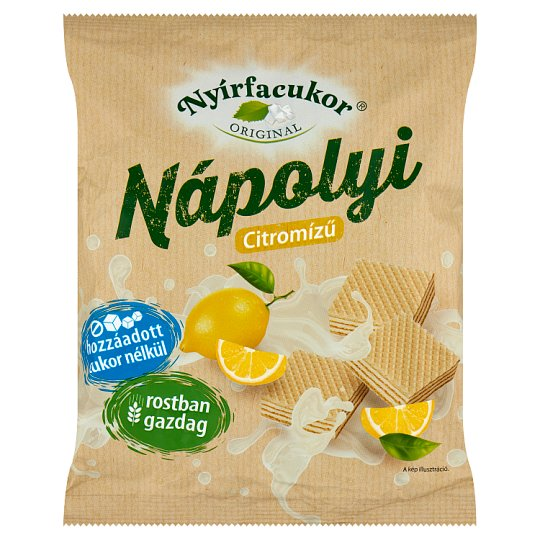 Nyírfacukor Original Lemon Flavoured Wafer with Xylitol 180 g