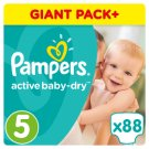 Pampers Active Baby-Dry Size 5 (Junior) 11-18 kg, 88 Nappies
