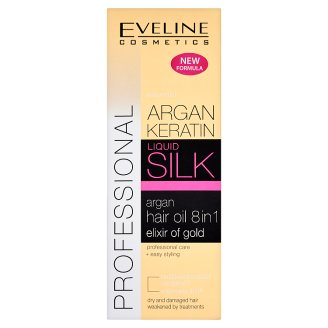 Eveline Cosmetics Liquid Silk Argan Hair Oil 8in1 150 ml