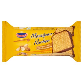 Kuchenmeister Cake with Marzipan and Chocolate Flavoured Coating 400 g