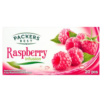 Packers Best Raspberry Infusion Raspberry Flavoured Filtered Fruit Tea 20 Tea Bags 40 g