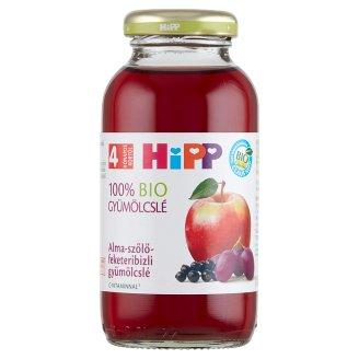 HiPP BIO alma-szőlő-feketeribizli gyümölcslé C-vitaminnal 4 hónapos kortól 0,2 l