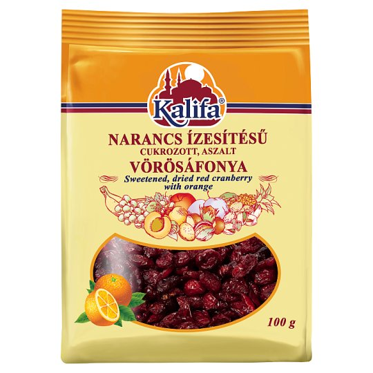 Kalifa Sweetened Dried Red Cranberry with Orange 100 g
