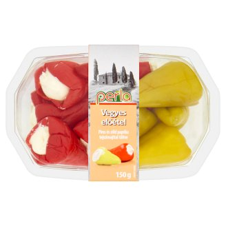 Perla Mixed Appetizer Red and Green Paprika Filled with Creamy Cheese 150 g