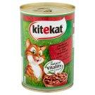 Kitekat teljes értékű állateledel felnőtt macskák számára marhahússal mártásban 400 g