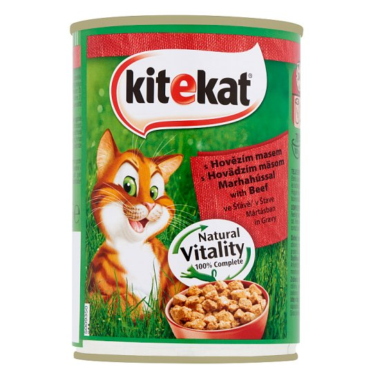 Kitekat Complete Pet Food for Adult Cats with Beef in Gravy 400 g