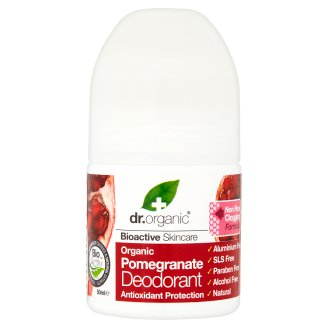 Dr. Organic Bioactive Skincare Aluminium-Free Roll-On Deodorant with Organic Pomegranate 50 ml