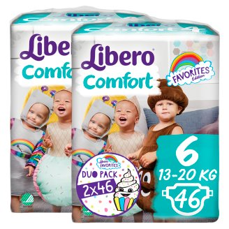 Libero Comfort 6 13-20 kg Nappies 2 x 46 pcs