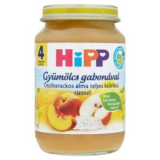 HiPP BIO őszibarackos alma rizzsel 4 hónapos kortól 190 g