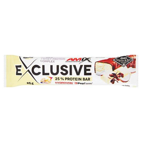 Amix Exclusive Bar fehér csokoládé-kókusz ízű protein szelet 85 g