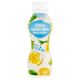 Tesco Low-Fat Lemon and Lime Yoghurt Drink 350 g