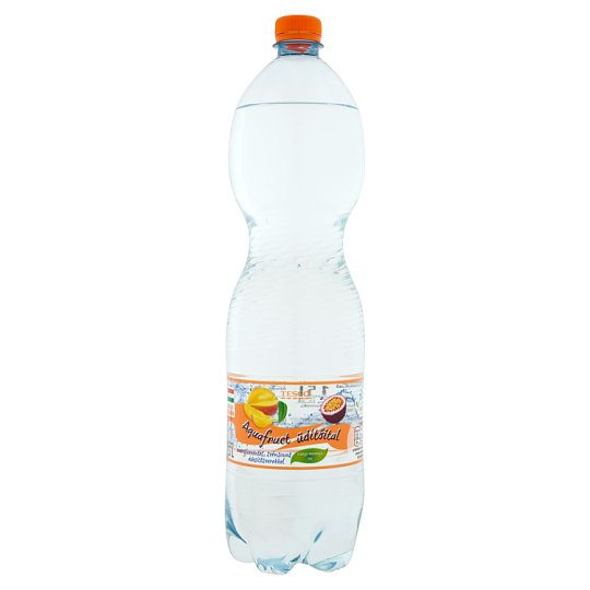 Tesco Aquafruct Energy-Free Mango-Passion Fruit Flavoured Carbonated Drink with Sweeteners 1,5 l