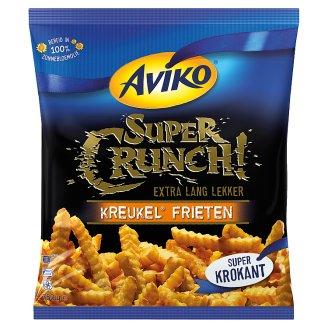 Aviko Super Crunch! elősütött, gyorsfagyasztott cikcakkos hasábburgonya ropogós bevonattal 750 g