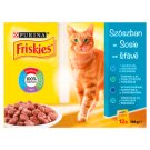 Friskies Saucy Collection Cat Food with Salmon, Tuna, Cod and Sardine 12 x 100 g
