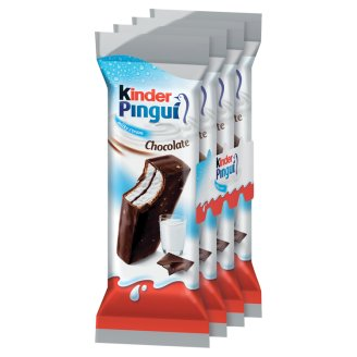 Kinder Pingui Choco Chocolate Covered Sponge Cake with Milky Filling 4 pcs 120 g