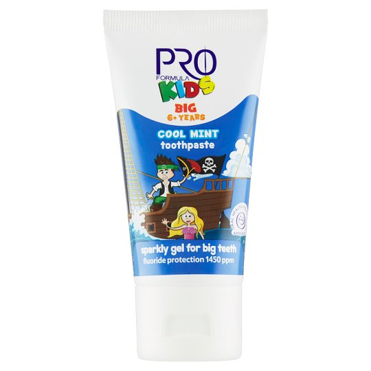 Tesco Pro Formula Kids Cool Mint Toothpaste 6+ years 50 ml