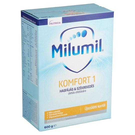 Milumil Komfort 1 speciális - gyógyászati célra szánt - tápszer újszülött kortól 600 g