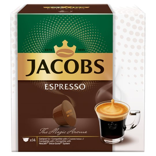Jacobs Espresso Ground-Roasted Coffee in Capsule 14 pcs 84 g