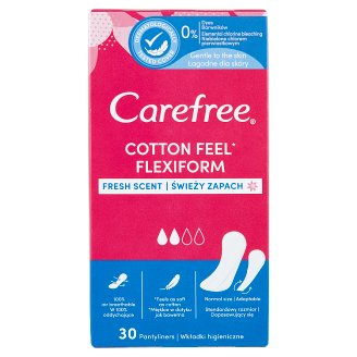 Carefree Flexiform Fresh Scent Pantyliners 30 pcs