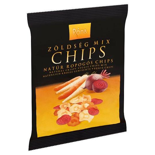 Róna natúr ropogós zöldség mix chips 40 g