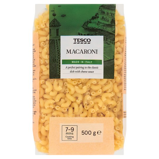 Tesco Italian Macaroni Hornlets Durum Dry Pasta without Eggs 500 g