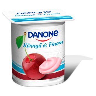 Danone Sour Cherry Flavoured Low-Fat Yoghurt with Live Cultures 125 g