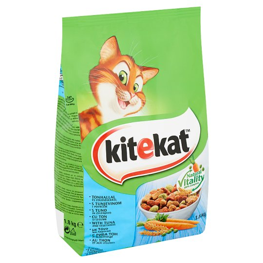 Kitekat Complete Pet Food for Adult Cats with Tuna and Vegetables 1,8 kg