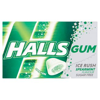 Halls Sugar Free Spearmint Flavoured Gums 18 g
