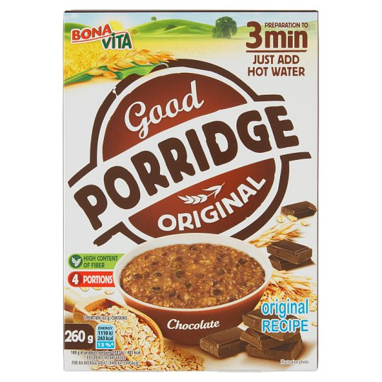 Bona Vita Good Porridge Chocolate Porridge 4 x 65 g