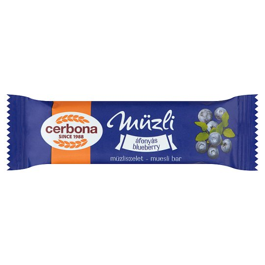 image 1 of Cerbona Blueberry Cereal Bar in Yoghurt Coating 20 g