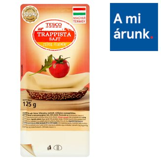 Tesco Fat, Semi-Hard Trappist Cheese 125 g