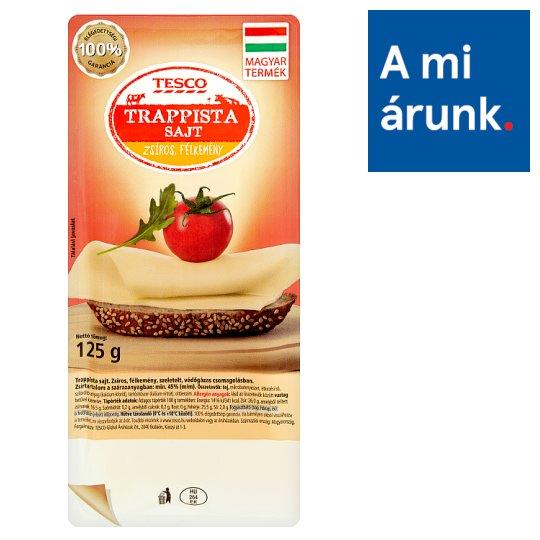 Tesco Fat, Semi-Hard Trappist Cheese 125 g