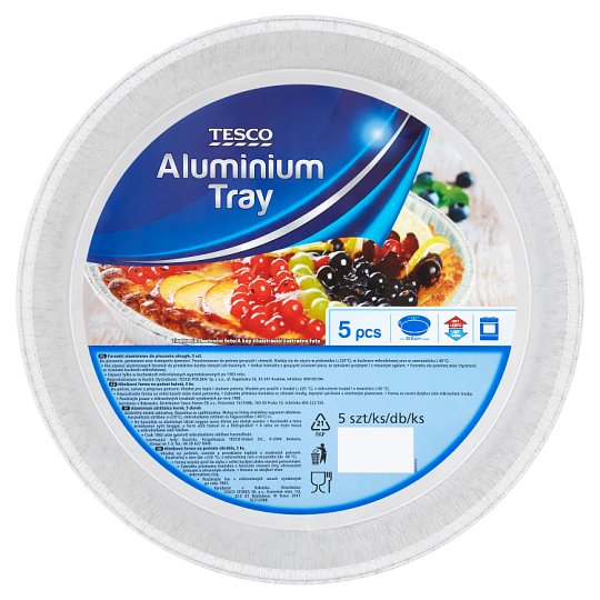Tesco kerek alumínium sütőtálca 5 db