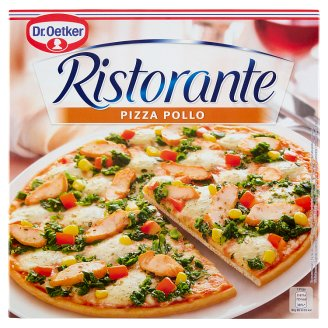 Dr. Oetker Ristorante Pizza Pollo Quick-Frozen Pizza with Tomato, Cheese and Chicken Breast 355 g