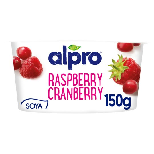 Alpro Vegetable Based Product with Raspberry-Cranberry and Yogurt Cultures 150 g