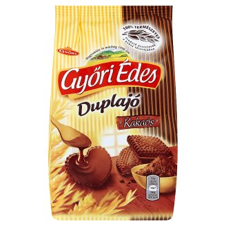Győri Édes Duplajó Cocoa, Friable Biscuits with Bottom Dipped in Cocoa Coatings 150 g