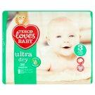 Tesco Loves Baby Ultra Dry 3 Midi Nappies 4-9 kg 38 pcs