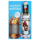 Captain Morgan White Rum 37,5% 0,7 l + Glass
