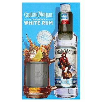 Captain Morgan White Rum 37,5% 0,7 l + Glass