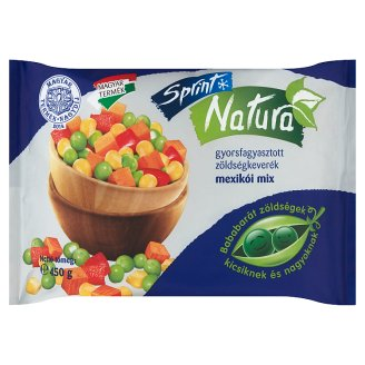 Sprint Natura Quick-Frozen Mexican Vegetable Mix 450 g