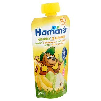 Hamánek Baby Food Pears with Banana 4+ Months 120 g