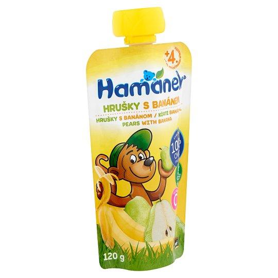 Hamánek bébidesszert körte banánnal 4 hónapos kortól 120 g