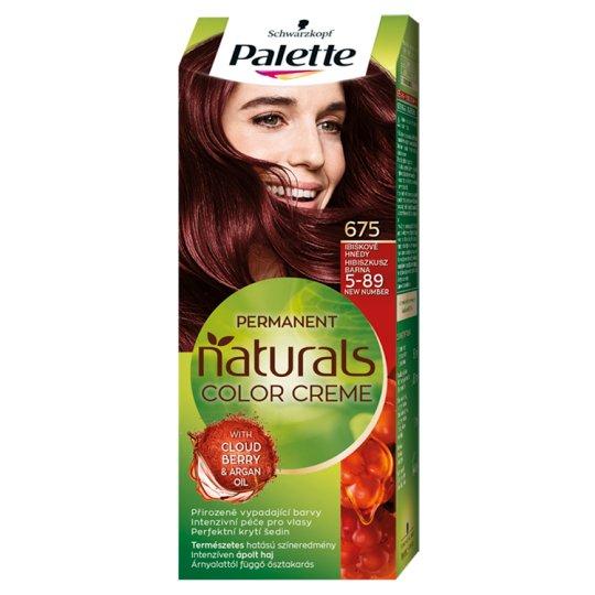 Schwarzkopf Palette Permanent Naturals Color Creme ápoló krémhajfesték 5-89 hibiszkusz barna (675)