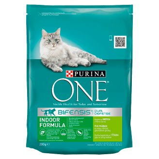 Purina One Indoor Formula Dry Cat Food Rich in Turkey and Whole Grain Wheat 200 g